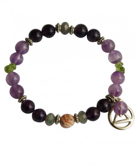 Serenity + Sobriety Spiritual Bracelet for Overcoming Addictions - C511EEFZWWP