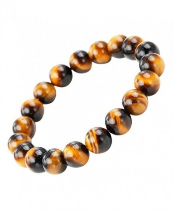 SUNYIK Natural Tiger's Eye Gemstone Bracelet - Yellow Tiger' Eye Stone - CP12GEHF59P