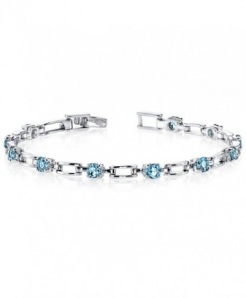 London Blue Topaz Bracelet Sterling Silver Rhodium Nickel Finish 3.00 Carats Chic Design - CO1141DNNGH