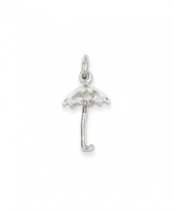 "Sterling Silver Umbrella Charm on a Sterling Silver Chain Necklace- 16""-20"" - C2110MZ5J3X"