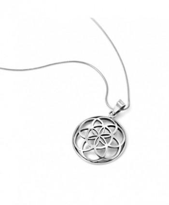Sterling Silver Mandala Pendant Necklace
