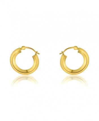 14K Yellow Gold Fancy Hoop Earrings - CG12BJLFI8J