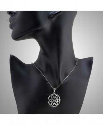 Sterling Silver Mandala Pendant Necklace in Women's Pendants