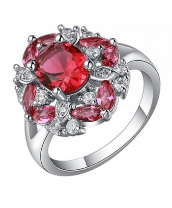 Katie's Style Chloe Cubic Zirconia Flower CZ Women Fashion Cocktail Statement Ring - CU186SI32S5