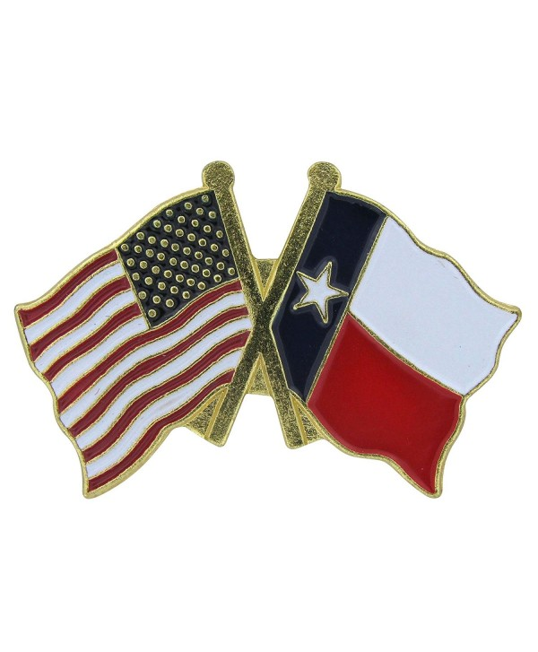 US Flag Store Lapel Pin USA and Texas Flag - CD1125D9EVN