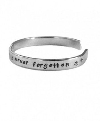 She Who Leaves a Trail of Glitter Is Never Forgotten | Stacking Bracelets |Aluminum Hand Stamped Jewelry - CB122B04DA5