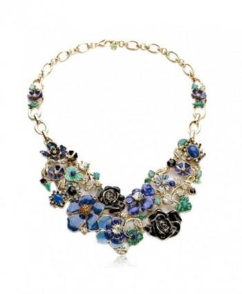 Fun Daisy Vintage Garden Flower Wonderland Fashion Necklace - xl00892 - CG11M479113