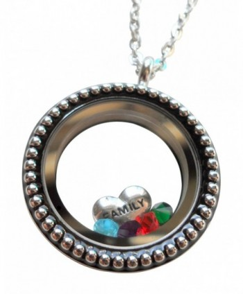 Stainless Floating Necklace Birthstone Crystals - CB12B0S45D5
