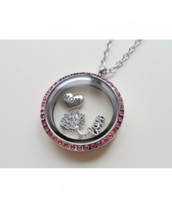 Stainless Steel Floating Locket Necklace- Memory Locket Necklace - CI11WXH5TB5