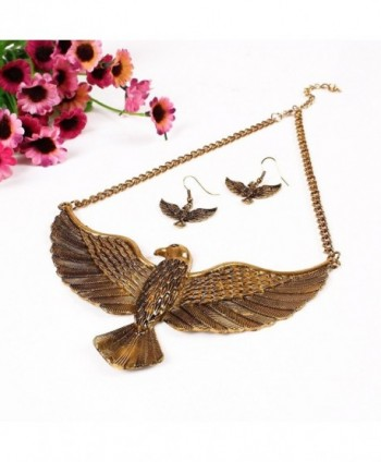 Winson Vintage Statement Necklace Earring in Women's Chain Necklaces