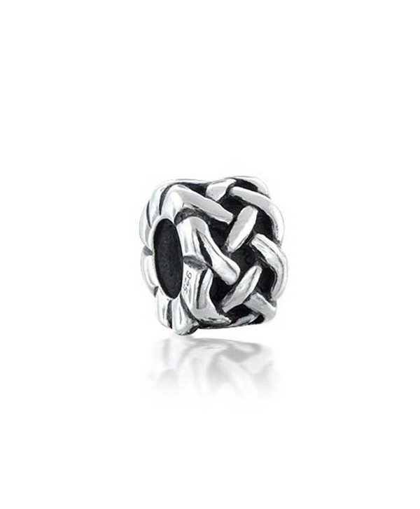 Bling Jewelry 925 Sterling Silver Celtic Knots Bead Charms - CJ116C12JNT