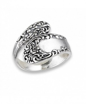 Vintage Celtic Knot Spoon Victorian Style Ring Sterling Silver Band Sizes 6-10 - CF182ZUUAKX