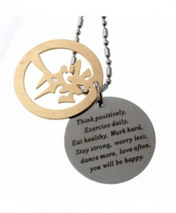 R H Jewelry Stainless Inspirational Motivational