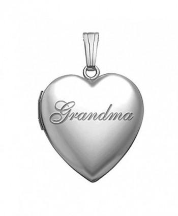 """Sterling Silver """"Grandma"""" Sweetheart Locket 3/4 Inch X 3/4 Inch - C8180OWYT2A"""