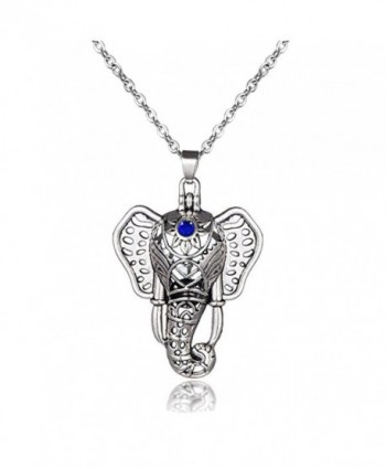 Elephant Aromatherapy Essential Diffuser Necklace - CP186QCGOY0