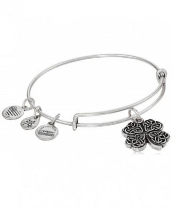 Alex and Ani Four Leaf Clover IV Bangle Bracelet - Rafaelian Silver - C512OHA8P2D