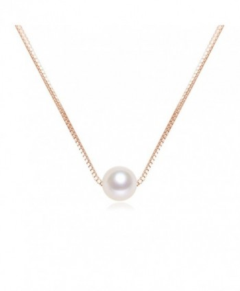 14 inch Pearl Choker Necklace 6mm Single White Freshwater Cultured AAAA Quality Pearl Necklace - CR189THG2R4