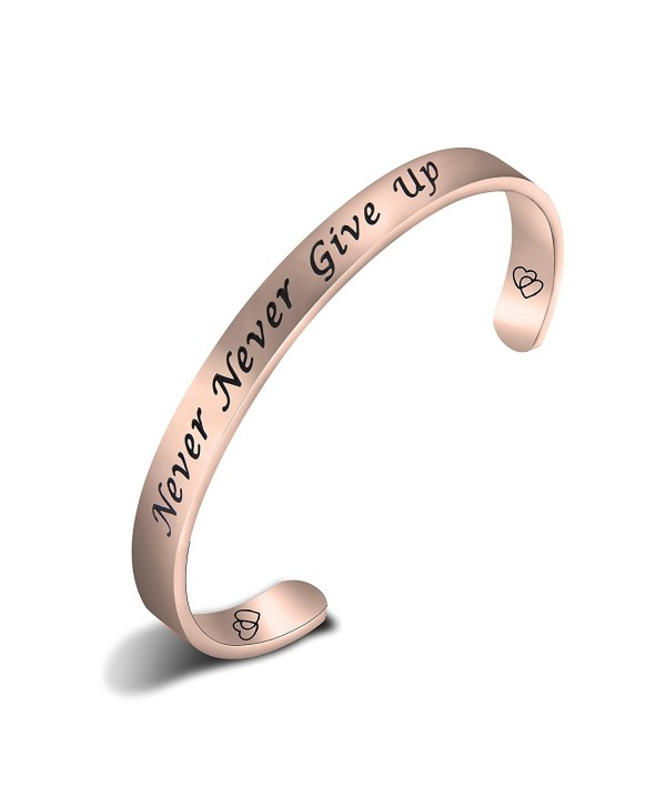 ZuoBao Bracelet Inspirational Encouraging Adjustable - Rose Gold - CB1887T3EWC
