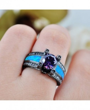 Rongxing Jewelry Womens Amethyst Promise