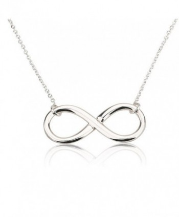 Infinity Pendant Sterling Silver Infinity Necklace - CM11F60PMPT