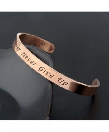 ZuoBao Bracelet Inspirational Encouraging Adjustable in Women's Cuff Bracelets