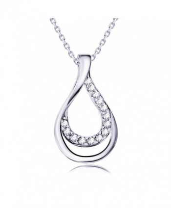Valentines Sterling Necklace Infinity Fashion - Silver - CB183RZX0S6
