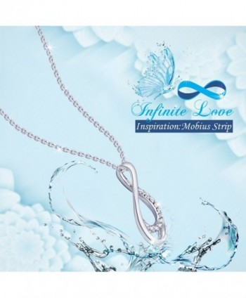 Valentines Sterling Necklace Infinity Fashion in Women's Pendants