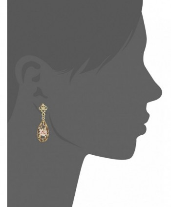 Downton Abbey Gold Tone Porcelain Earrings