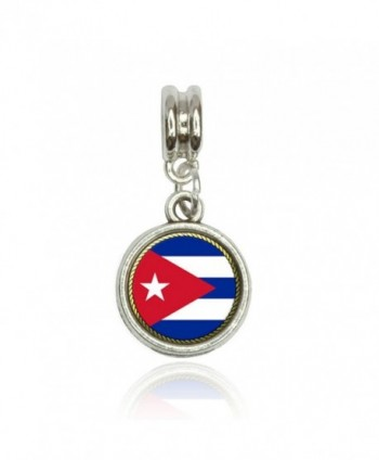 Flag of Cuba Euro European Italian Style Bracelet Bead Charm - C011L4T0AQ1