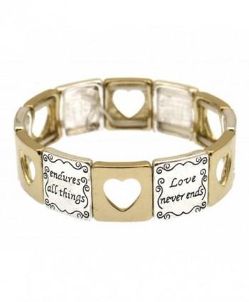 Corinthians 13 Scripture Engraved Bracelet in Women's Stretch Bracelets