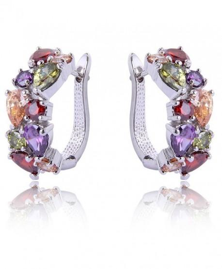 YAZILIND Dazzling Colorful Flawless Zirconia - Rhodium Colorful - C612E0SRSYP