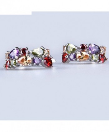 YAZILIND Dazzling Colorful Flawless Zirconia in Women's Hoop Earrings