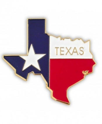 PinMart's State Shape of Texas and Texas Flag Lapel Pin - CL119PEKYHN