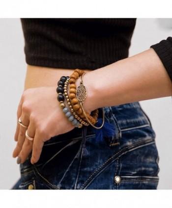 Stacked Bracelets Fashion Handmade Stackable in Women's Strand Bracelets
