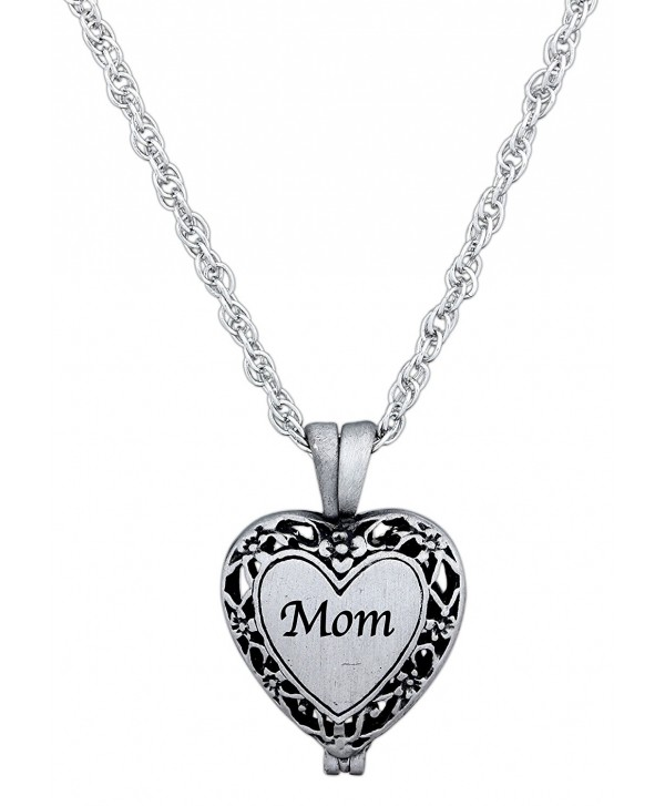 "CA Gift Memorial Urn Locket Necklace with Vial for Ashes on 23"" Rope Chain - CY12J51R0F9"
