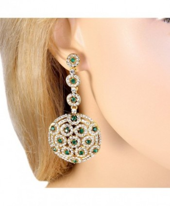 BriLove Stylish Filigree Earrings Gold Tone