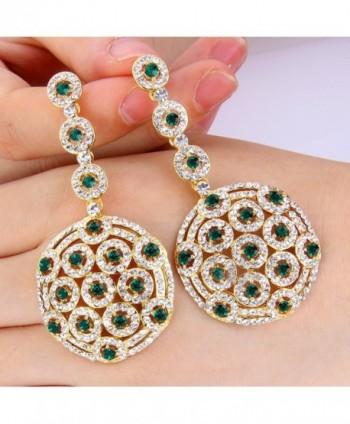 BriLove Stylish Filigree Earrings Gold Tone in Women's Drop & Dangle Earrings