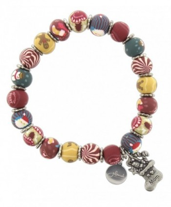 Jilzarah Clay Beaded Holiday Stretch Bracelet - C0187GCZO6D