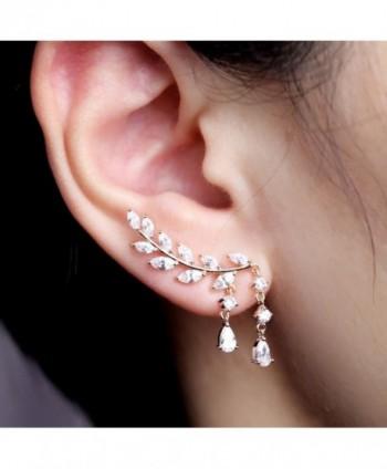 EVERU Jewelry Crystal Plated Earrings in Women's Cuffs & Wraps Earrings