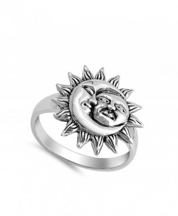 Moon Universe Faces Sterling Silver