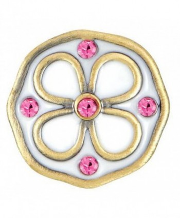Ginger Snaps Petite Brady Flower White & Pink Snap GP05-50 - C811SYUH5VH