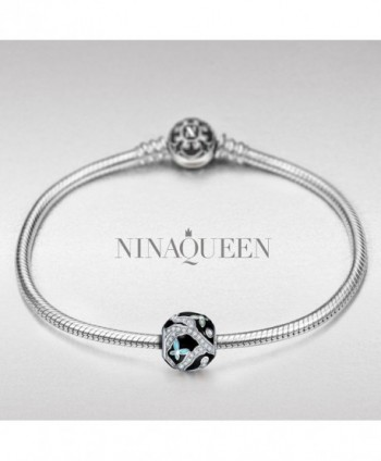NinaQueen Butterfly Sterling Christmas Anniversary in Women's Charms & Charm Bracelets