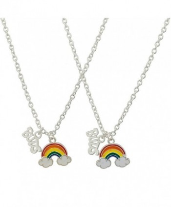 Lux Accessories Rainbow Clouds Best Buds Matching BFF Best Friends Necklace Set. - CJ12975Q5QD