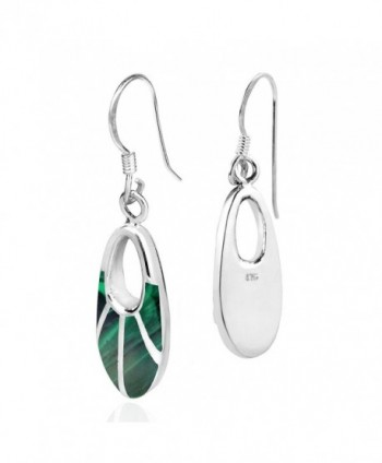 Celestial Malachite Sterling Silver Earrings in Women's Drop & Dangle Earrings