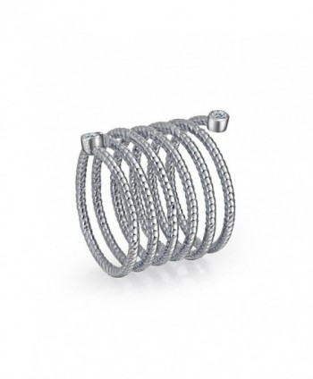 Bling Jewelry Stackable Rhodium Statement in Women's Statement Rings