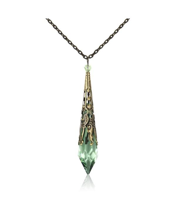 HALONA Vintage Victorian Necklace SWAROVSKI - Peridot - CL1833LYGYZ