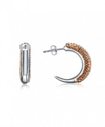 OSIANA Hoop Earrings Minimalist Box Hoop 01 Champagne - Ear-Hoop-01-Champagne - CD182OCIICL