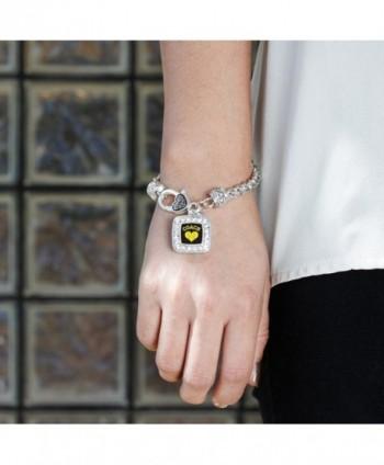 Softball Classic Silver Crystal Bracelet