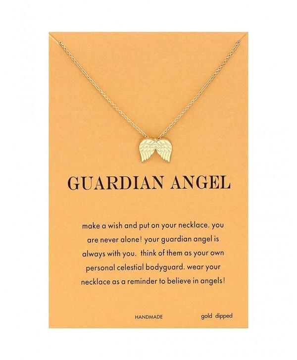 CYBERNY Message Golden Pendant Necklace - golden angel wings - CU180DD804S