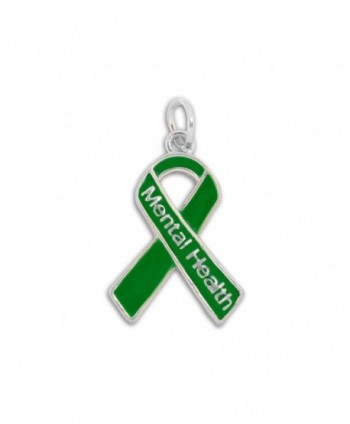 Mental Health Green Ribbon Charm in a Bag (1 Charm - Retail) - C81855RCOMW